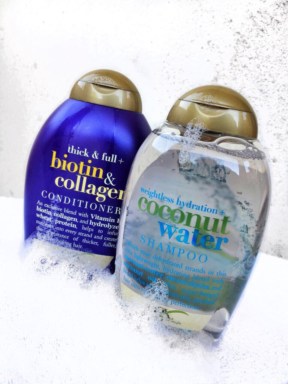 Ogx Coconut Water Shampoo And Biotin Collagen Conditioner Review Oshinity