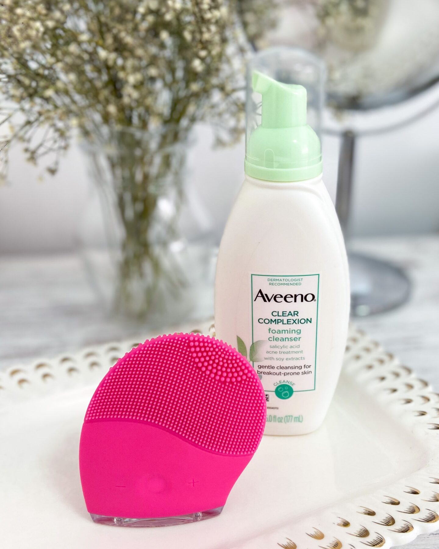Sonic silicon cleansing face brush blog review